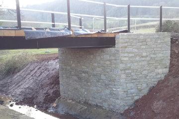 Civil Construction Work Bridge Rebuild Abergavenny South Wales