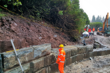 Civil Construction Work Ponsticill Damn- M Powell Abergavenny South Wales